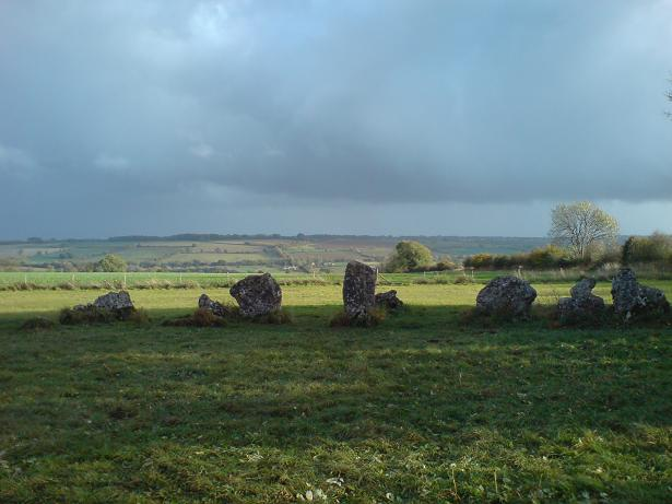 Rollright Stones - view south