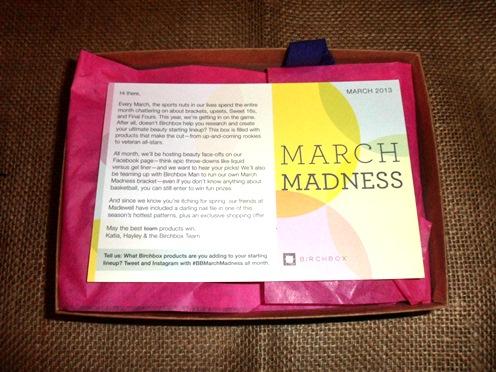 March Madness Birchbox