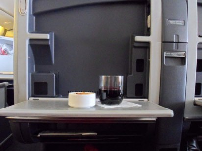 American Airlines First Class Welcome Drink