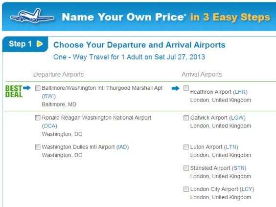 priceline airline tickets