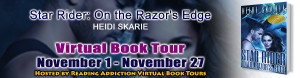 My banner for the book tour.