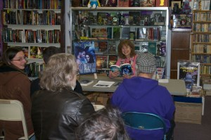 Heidi Skarie doing a reading at Dream Haven March 2015
