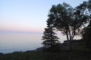 Photo of Lake Superior near our house