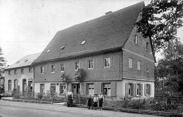 Hauptstr. 91 & 91a in Einsiedel um 1910