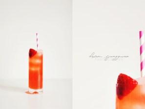 Lime & jordgubbslemonad