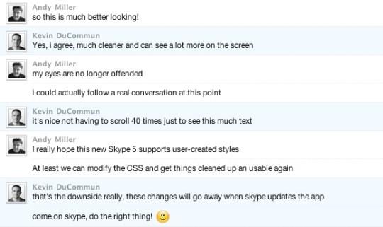 after A More Usable Skype 5 Mac Beta