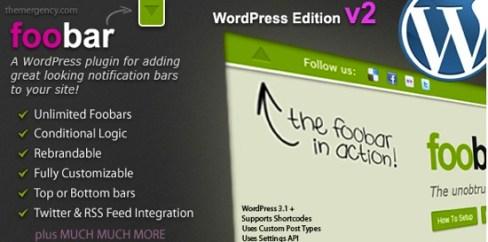 foobar1 Alternatives to Hello Bar: WordPress Notification Bar Plugins