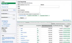 google adwords keyword search 300x180 WordPress SEO Research Tools