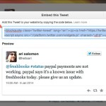 Embedded tweets in WordPress