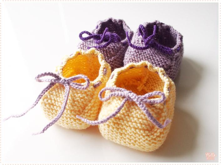 Chaussons-d-ete_tricot-layette_violet-jaune_3