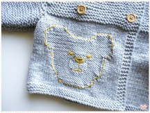 <span>Tricot layette</span> Une nouvelle version du gilet ourson