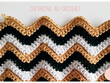 <span>Crochet</span> Ma petite pochette zippée à chevrons