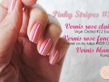 <span>Manucure</span> Pinky stripes #2