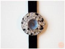 <span>Vide dressing</span> Montre bijoux Delta bracelet ruban noir