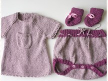 <span>Tricot layette</span> Les chaussons en point mousse