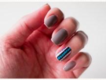 <span>Nail art</span> Motif aztec avec un nouveau nail strip