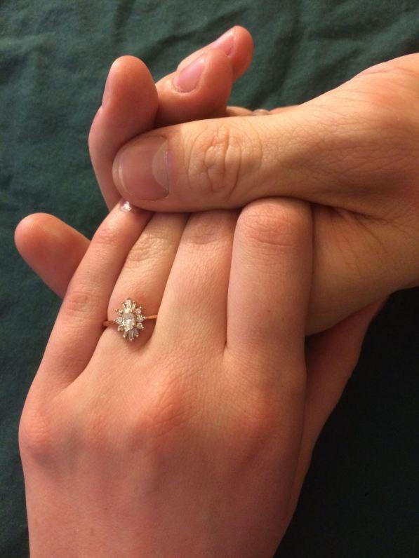 vintage inspired Art Deco engagement ring