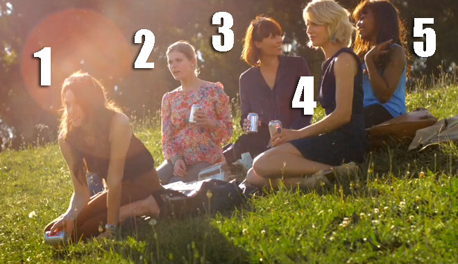 The women in the Diet Coke ad the Gardener.
