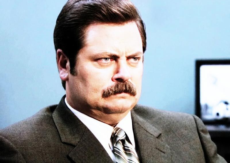 Ron Swanson is TGIF Gifs of the week.