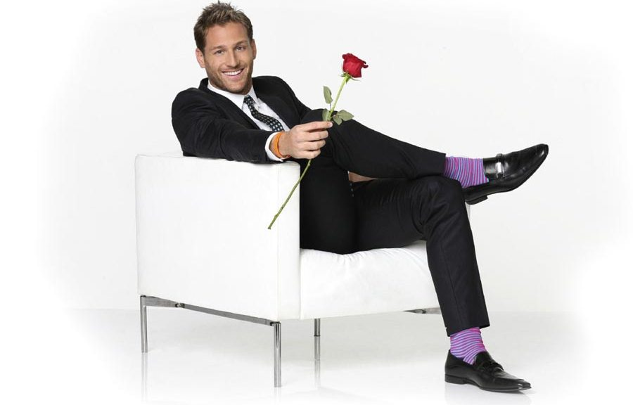 Bachelor Juan Pablo and the rose.