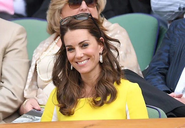 Inside Kate Middleton s summer   and why this year was different kate middleton wimbledon yellow