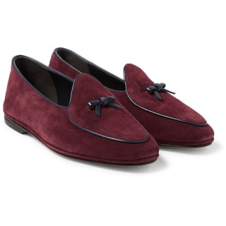 Rubinacci Marphy Leather Trimmed Velvet Loafers