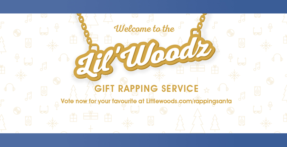 Lil'Woodz rapping service Facebook competition Littlewoods micro website competition
