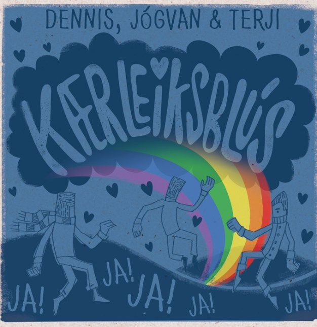 Kærleiksblus single cover design