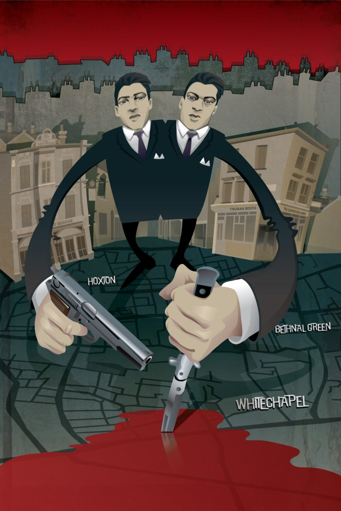 Illustration Kray Twins gangsters east london