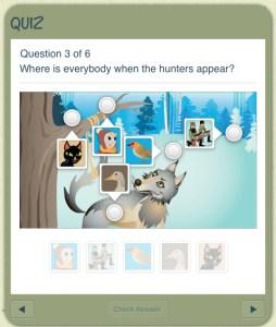 interactive iPad book quiz