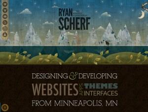 Screenshot of website of Ryan Scherf