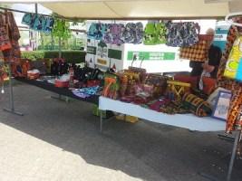 The market sale in Huizen, Netherlands