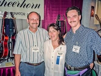 IBMA Owensboro, KY 1995, L-R: Tim Scheerhorn, Sally Van Meter, HN