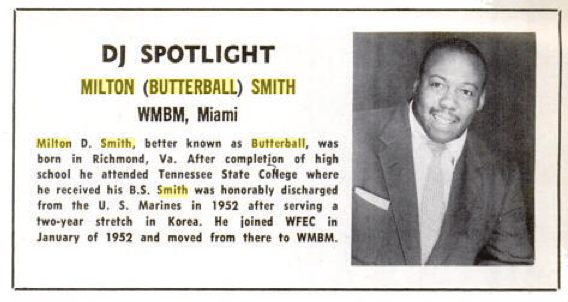 DJ Milton Butterball Smith