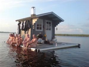 Sauna flottant Suède