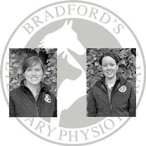 Left: Ros Smith - MSc Vet Phys. BSc (Hons) MCSP, HCPC ACPAT Cat A.     Right: Nicola Molloy - Pg Dip Vet Phys. BSc (Hons) MCSP, HCPC ACPAT Cat A