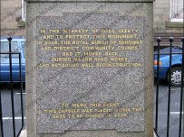 Innscription on the Cameron Memorial