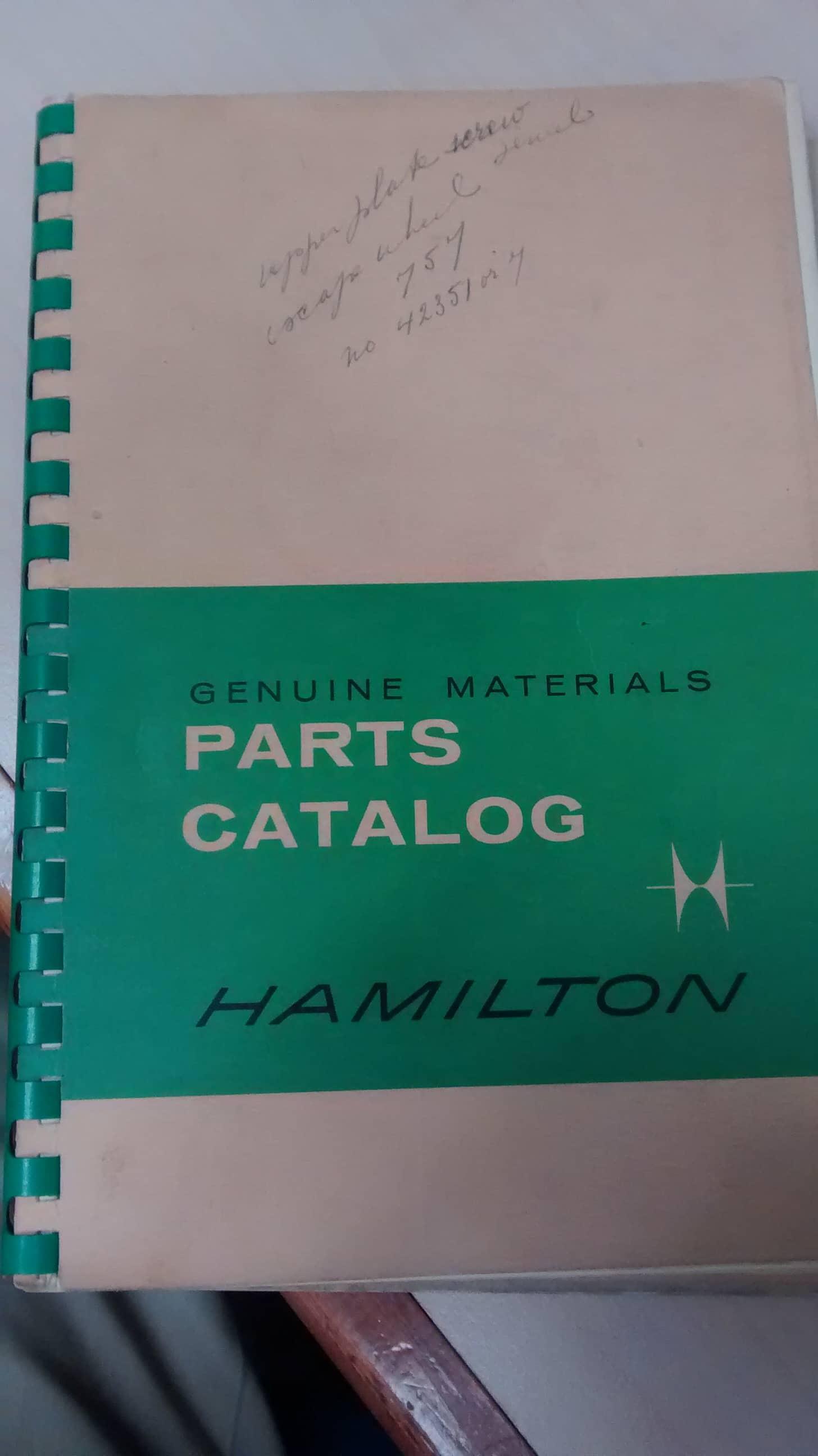 1961 Hamilton Watch Parts Catalog