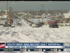 South Bend Record Snow