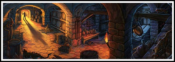 Wine Cellar Painting