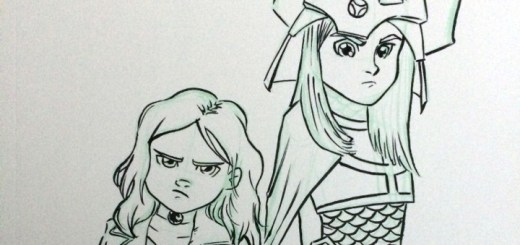 Anya and Stella Sketch header