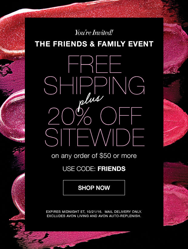 avon free shipping coupon deal friends family