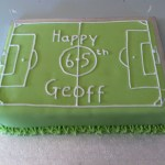 Football 65th Birthday Cake