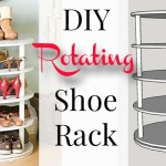 DIY rotating shoe rack