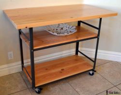Simple Build A Diy Free Plans A Rollingindustrial Counter Rolling Island Counter Table Her Tool Belt Kitchen Counter Height Table Island