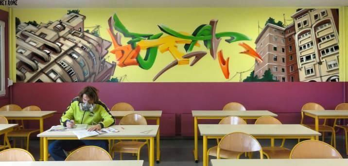 Salle d'étude du collège de Tavaux (Jura)