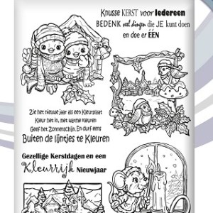 YCCS10003 - Clear Stamp -  Yvonne Creations - Colourful Christma