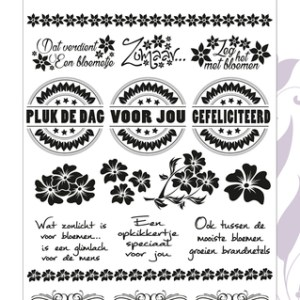 PMCS10010 - Text stamp - Flowery Collection.indd