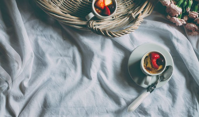 Basil Panna cotta With Balsamic Berries | Being Healthy