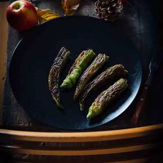 Stuffed green chillies by Roy